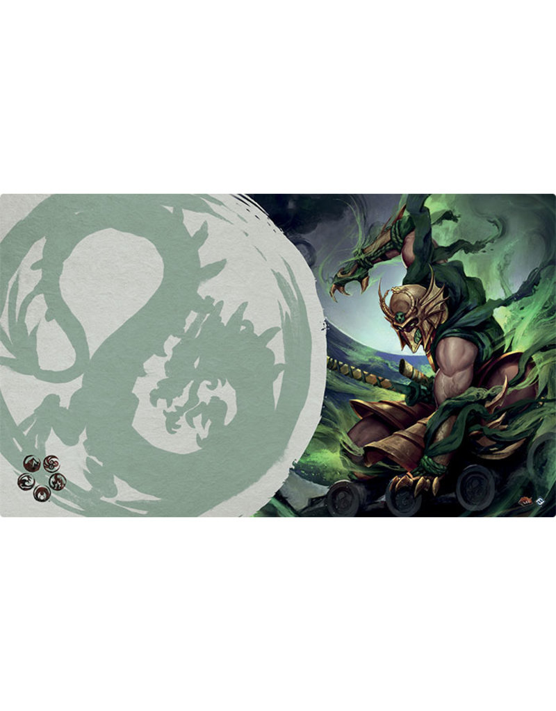 Asmodee - Fantasy Flight Games Master of the High House of Light Playmat (Dragon Clan)