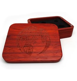 Padauk Wood Dice Case -