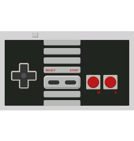 Gamermats: Controller (White Stitch)