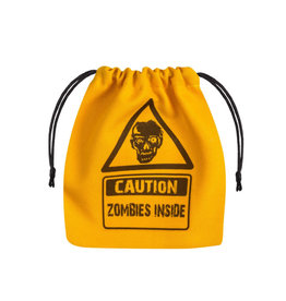 Yellow Zombie Dice Bag