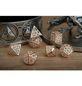 Hollow Metal Snowflake RPG Dice Set -
