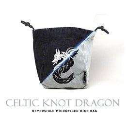Large Reversible Microfiber Bag - Celtic Knot Dragon