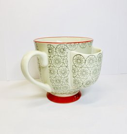 Creative Co-Op Gray Cup with Tea Bag Holder