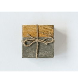 Creative Co-Op Cement/wood Coasters
