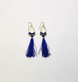Didi Jewelry Small teardrop Blue Fringe Earrings
