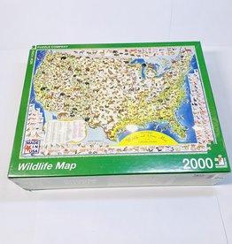 New York Puzzle Co. Wildlife Map