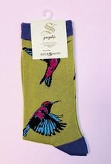 Socksmith W- Hummingbirds (bamboo)