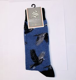 Socksmith M- Raving Ravens