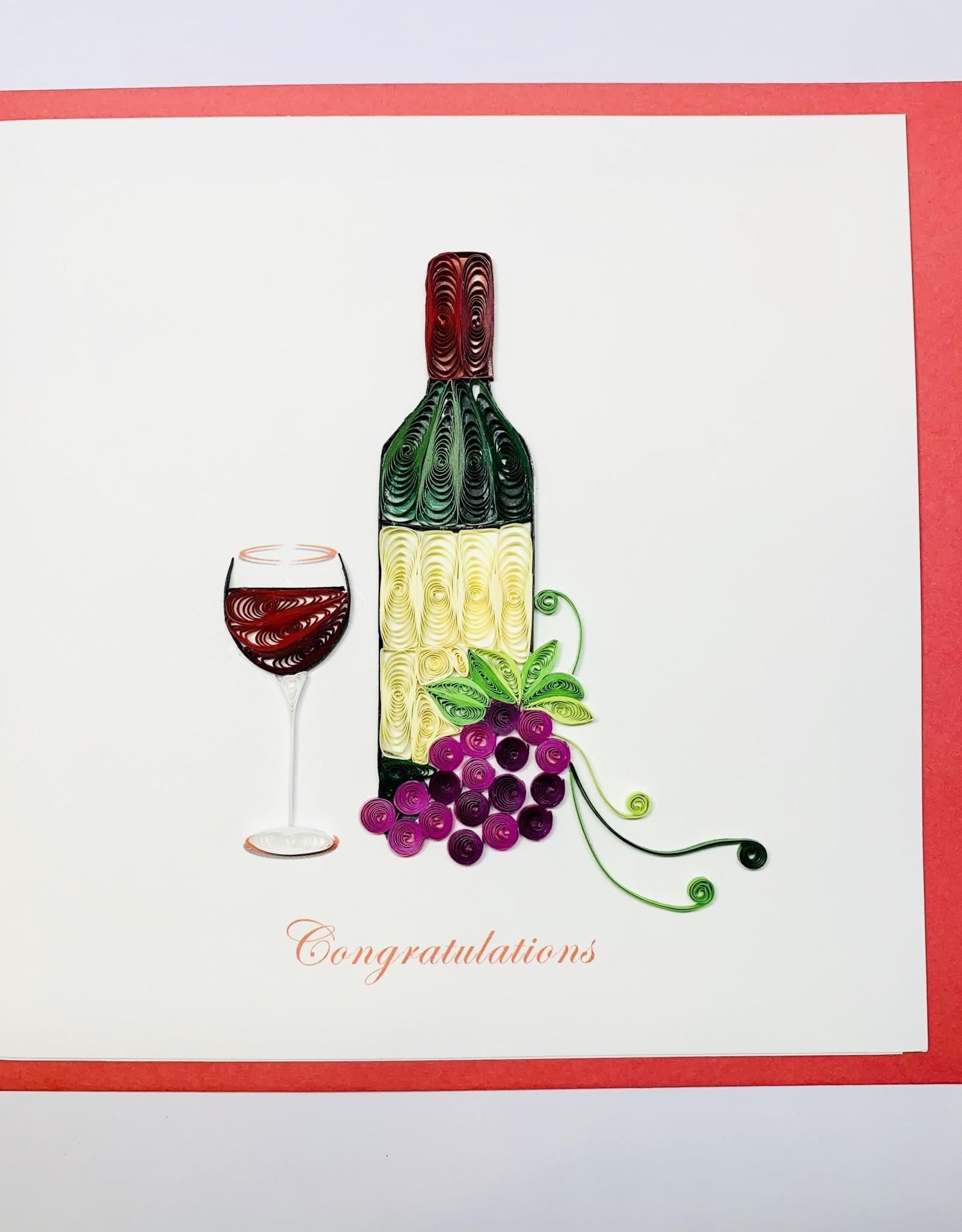 Quilling Wine Congrats
