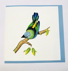 Quilling Green Headed Tanager