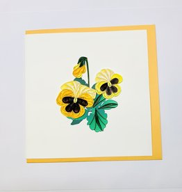 Quilling Pansies