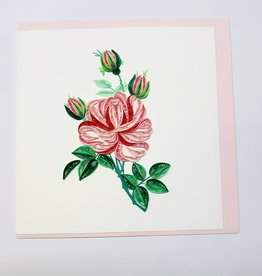 Quilling Pink Roses