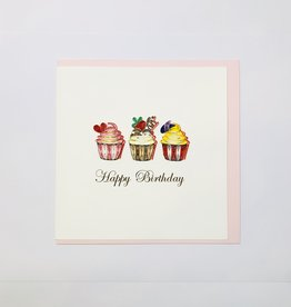 Quilling Birthday Cupcakes