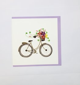 Quilling Bicycle & flower basket