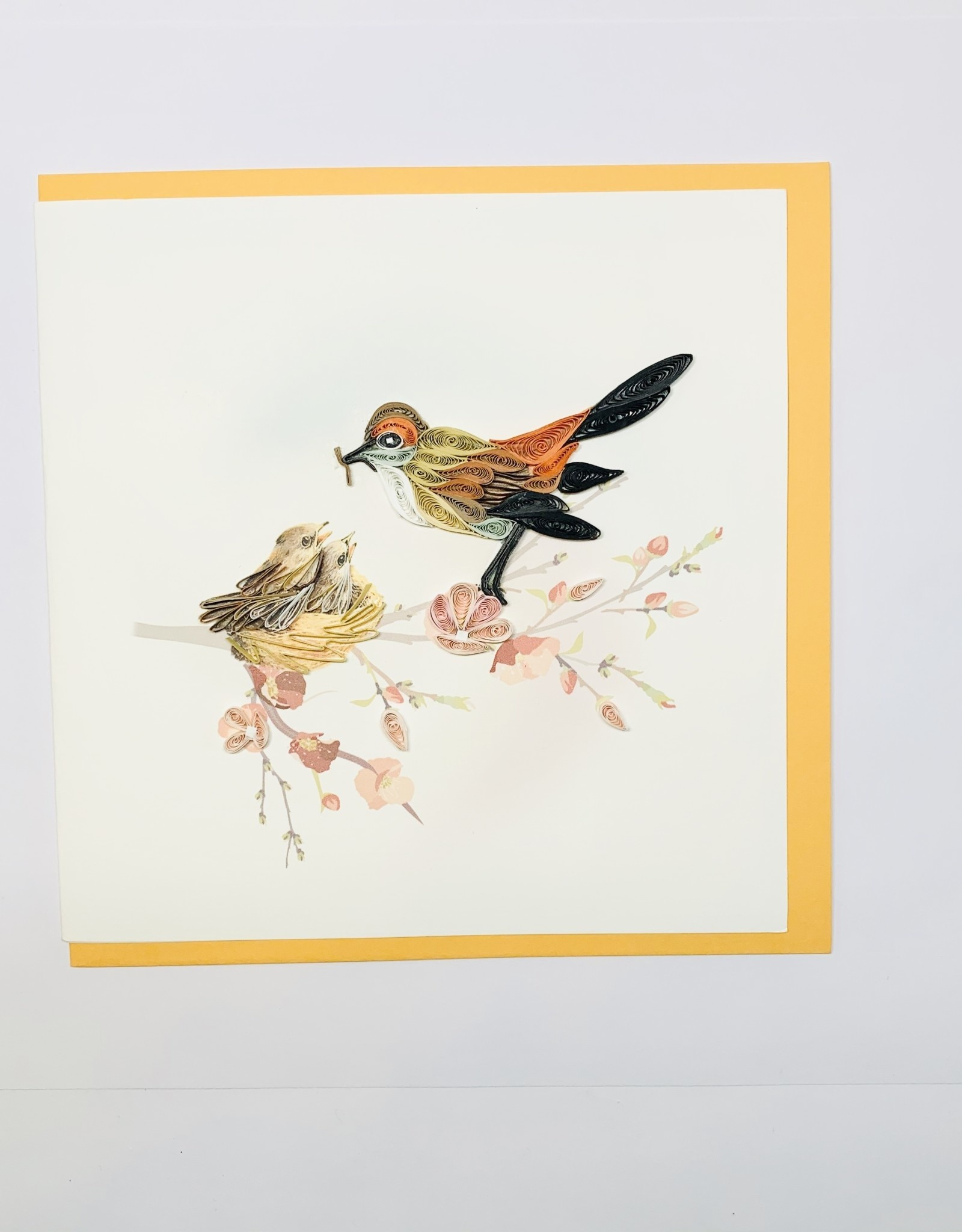 Quilling Mother Bird and babies