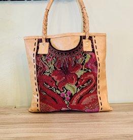 Altiplano Huipile Leather Shoulder Bag Tan