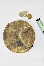 Roost Metallic Bronze round Coin Purse