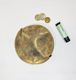 Roost Metallic Bronze round Coin Purse