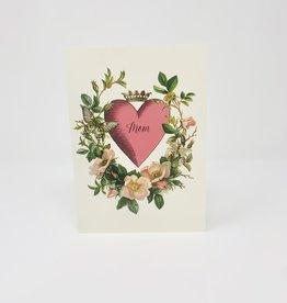 P. Flynn Design Mom Heart with Glitter