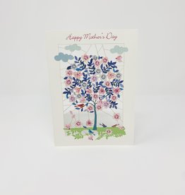 Shadywood Designs Pink and Blue Tree Cut out