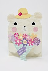 Design Design Hatted Bear with Bouquet