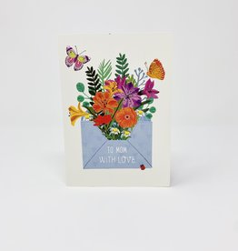Design Design Envelope floral Butterflies