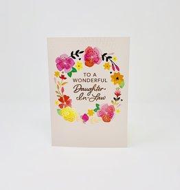 Design Design Daughter in law Floral Wreath