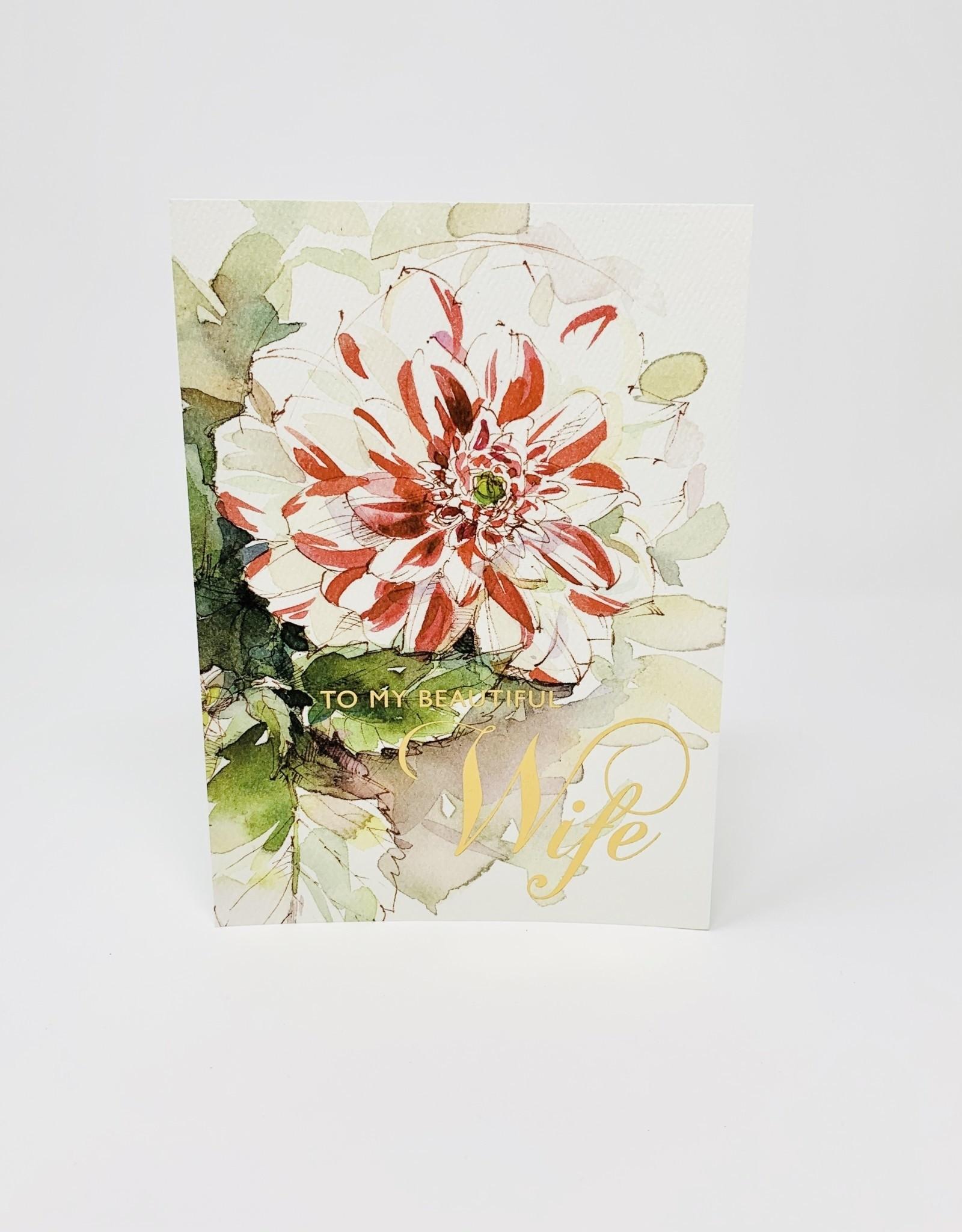 Design Design Red/White Painted Flower