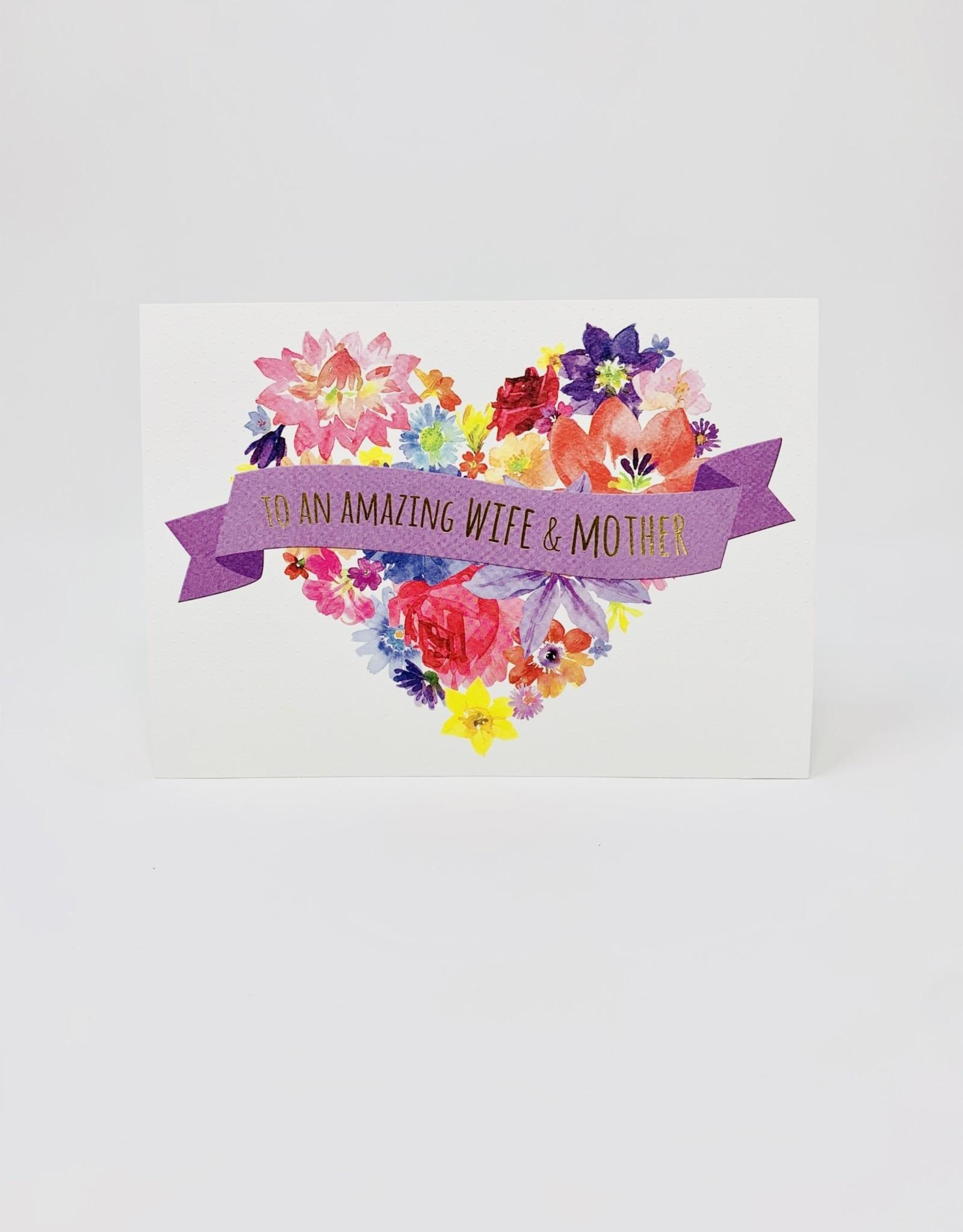 Design Design Watercolor Flower Heart - Wife