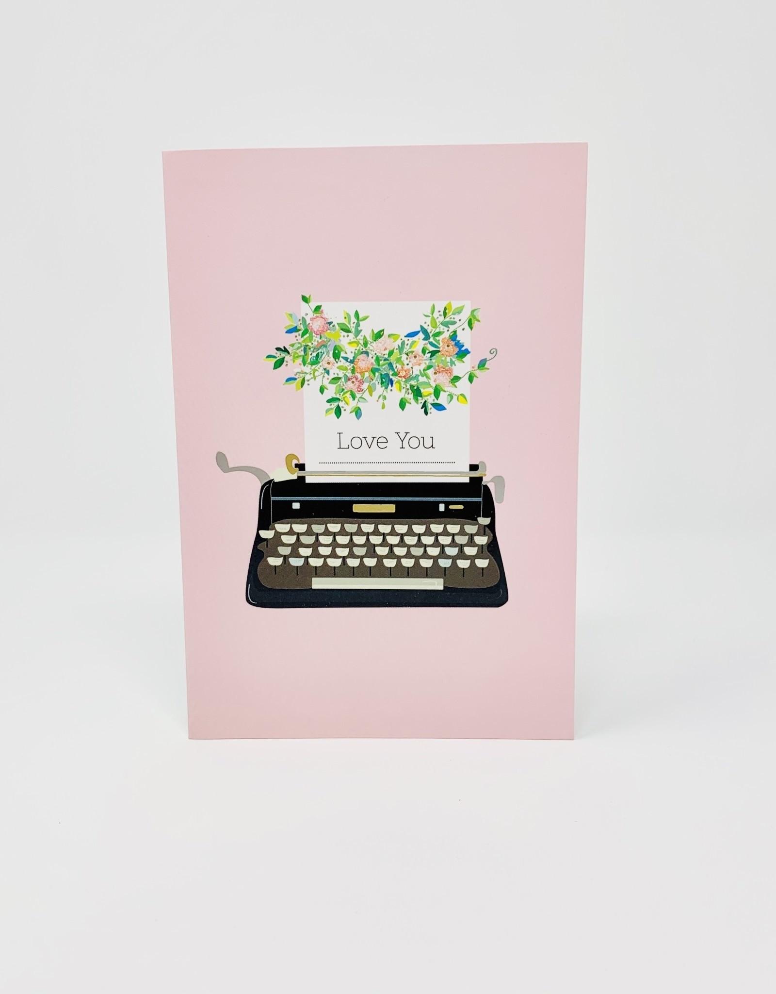 Pictura Love You Typwriter