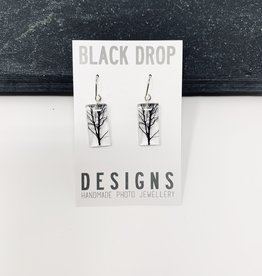Black Drop Designs Small Tree Earrings