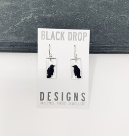 Black Drop Designs Small Crow Earrings