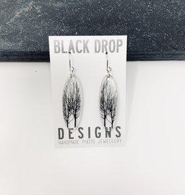 Black Drop Designs Tall Oval City Tree Earrings