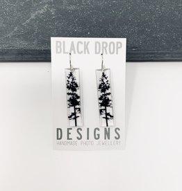 Black Drop Designs Tall Forest Earrings