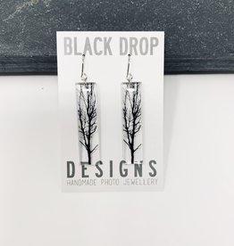 Black Drop Designs Tall Tree Earrings