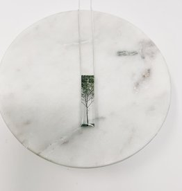 Black Drop Designs Skinny Green Tree Necklace