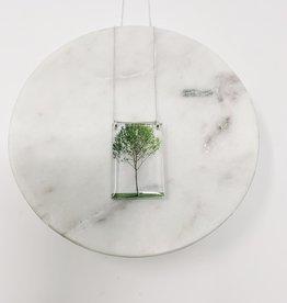 Black Drop Designs Tall Green Tree Necklace