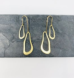 Dynamo Jewelry Gold Abstract Earrings
