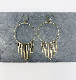Dynamo Jewelry Gypsy Boho Brass Earrings