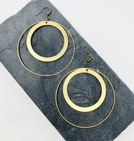 Dynamo Jewelry Large Brass Circle Hoops