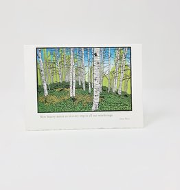 Artist to Watch Evidence-Birch forest