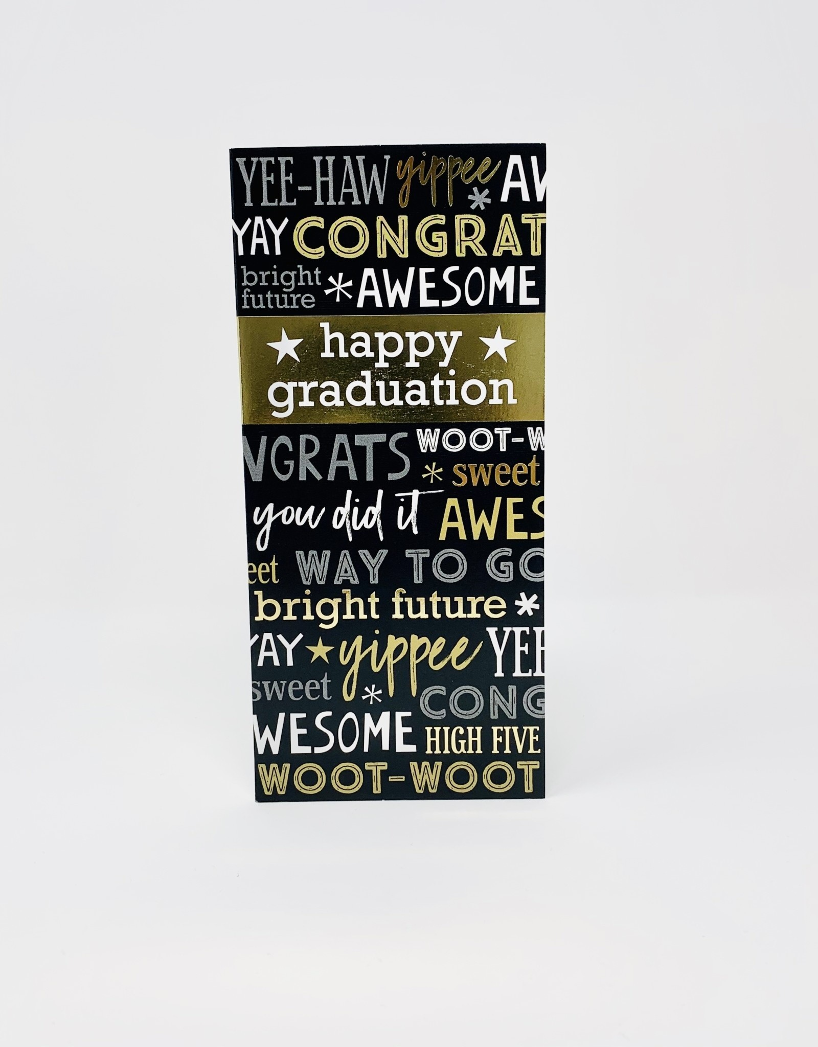Design Design Gold Happy Grad Money Holder