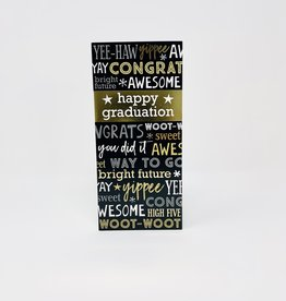 Design Design Gold Happy Grad Money Holder
