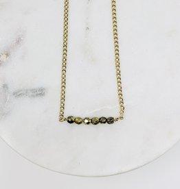 HB Jewelry HB Sm Necklace - Darker gold