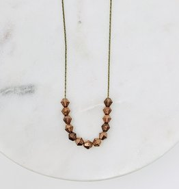 HB Jewelry HB Sm scoop Necklace - African Copper Beads