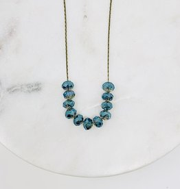 HB Jewelry HB Sm scoop Necklace - Blue