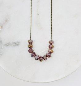 HB Jewelry HB Sm scoop Necklace - Purple