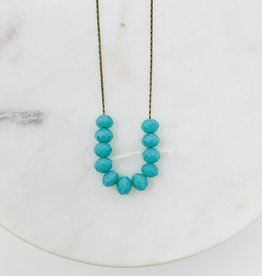 HB Jewelry HB Sm scoop Necklace - Turquoise