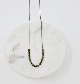 HB Jewelry HB LG Necklace - Dark Gold Beads