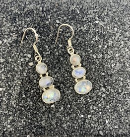Saraswati 3 Moonstone Earrings